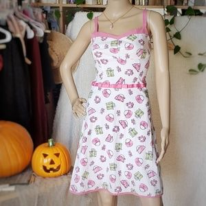 🎃 Womens 50s Style Printed Party Dress